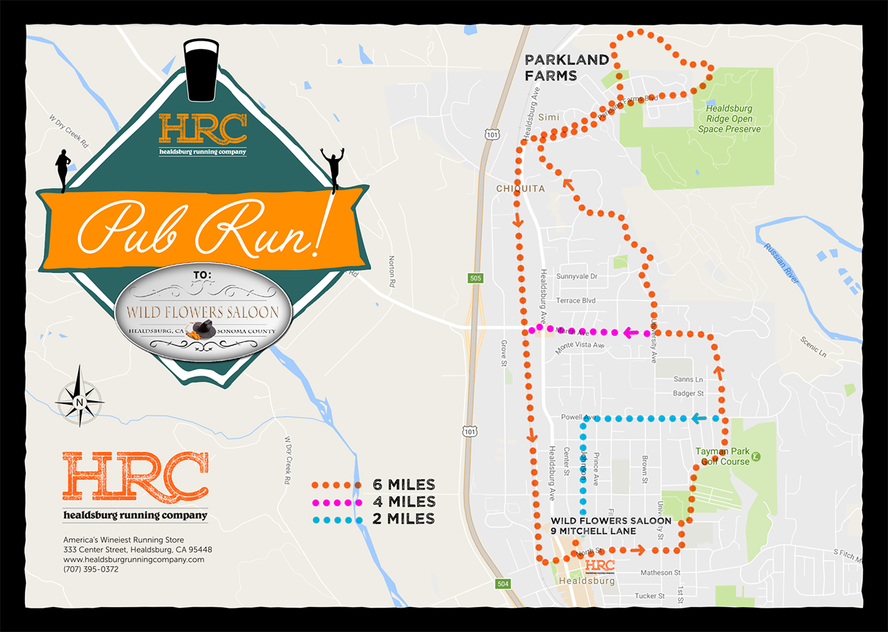Healdsburg Running Company Run Maps - How to map a run